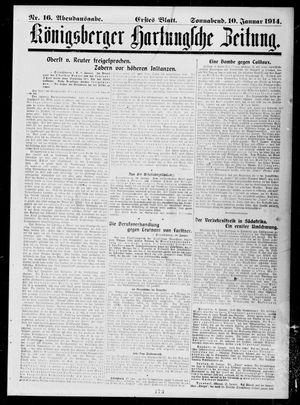 Königsberger Hartungsche Zeitung vom 10.01.1914