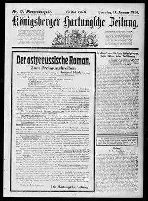 Königsberger Hartungsche Zeitung vom 11.01.1914