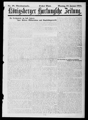 Königsberger Hartungsche Zeitung vom 12.01.1914