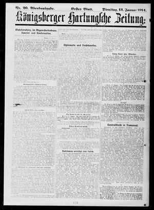 Königsberger Hartungsche Zeitung vom 13.01.1914