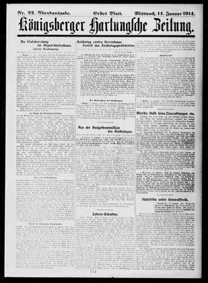 Königsberger Hartungsche Zeitung on Jan 14, 1914