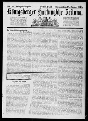 Königsberger Hartungsche Zeitung vom 15.01.1914