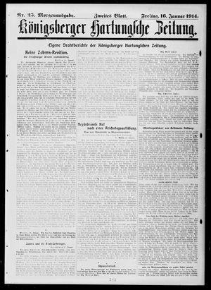 Königsberger Hartungsche Zeitung vom 16.01.1914
