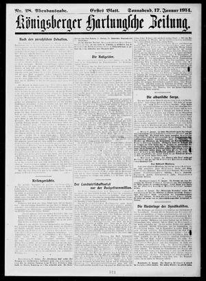 Königsberger Hartungsche Zeitung vom 17.01.1914