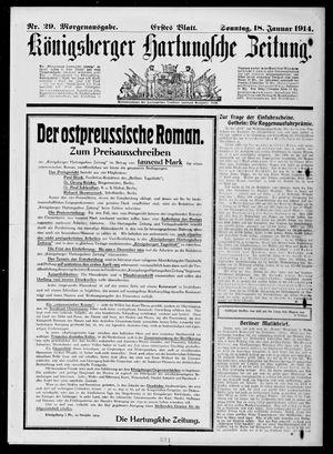Königsberger Hartungsche Zeitung vom 18.01.1914