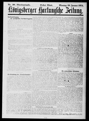 Königsberger Hartungsche Zeitung vom 19.01.1914