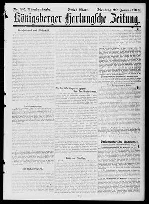 Königsberger Hartungsche Zeitung vom 20.01.1914
