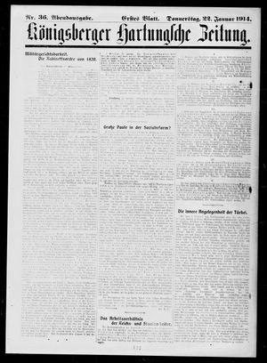Königsberger Hartungsche Zeitung vom 22.01.1914
