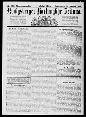 Königsberger Hartungsche Zeitung vom 24.01.1914