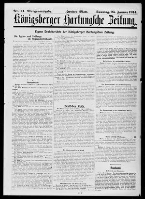 Königsberger Hartungsche Zeitung vom 25.01.1914