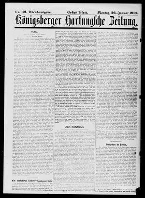 Königsberger Hartungsche Zeitung vom 26.01.1914