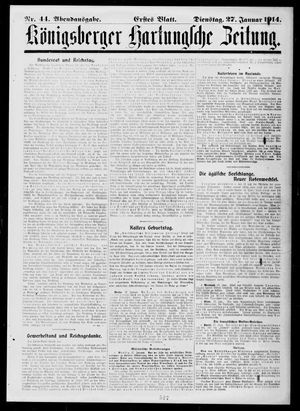 Königsberger Hartungsche Zeitung vom 27.01.1914
