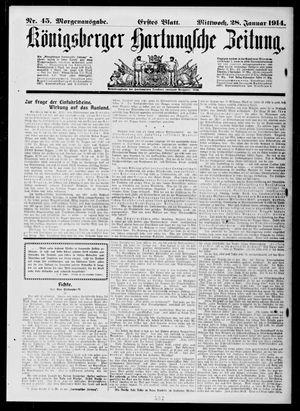 Königsberger Hartungsche Zeitung vom 28.01.1914