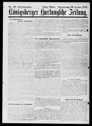 Königsberger Hartungsche Zeitung on Jan 29, 1914