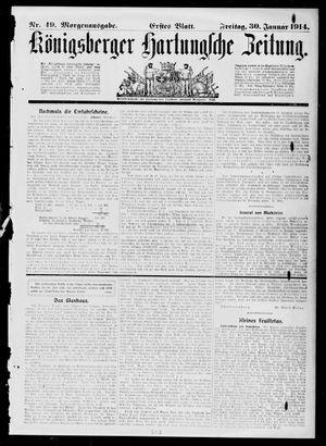 Königsberger Hartungsche Zeitung vom 30.01.1914