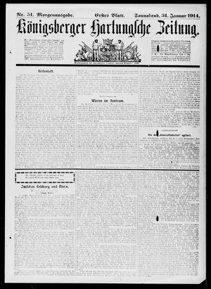 Königsberger Hartungsche Zeitung vom 31.01.1914