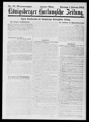 Königsberger Hartungsche Zeitung vom 01.02.1914