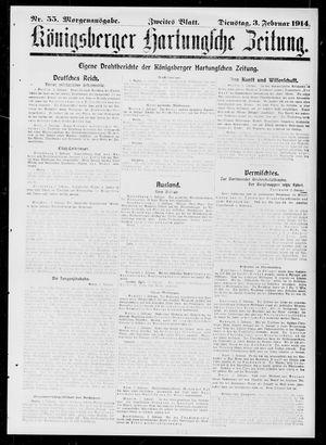 Königsberger Hartungsche Zeitung vom 03.02.1914