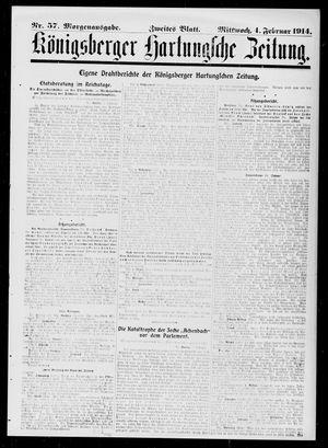 Königsberger Hartungsche Zeitung vom 04.02.1914