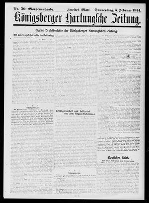 Königsberger Hartungsche Zeitung vom 05.02.1914