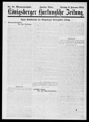 Königsberger Hartungsche Zeitung on Feb 6, 1914