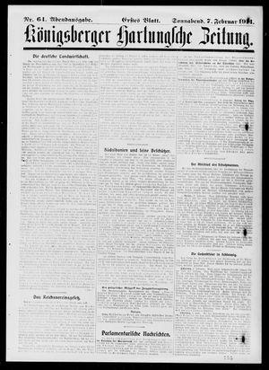 Königsberger Hartungsche Zeitung vom 07.02.1914