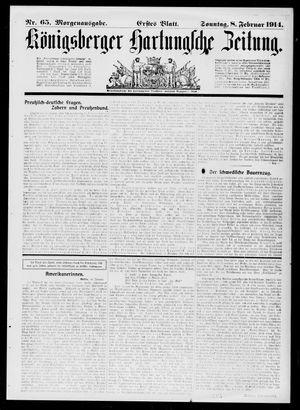 Königsberger Hartungsche Zeitung vom 08.02.1914