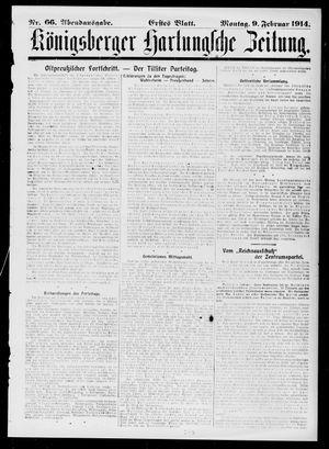 Königsberger Hartungsche Zeitung on Feb 9, 1914