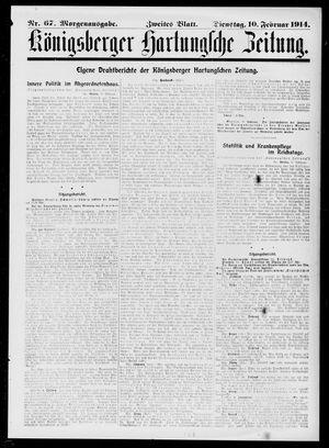 Königsberger Hartungsche Zeitung vom 10.02.1914