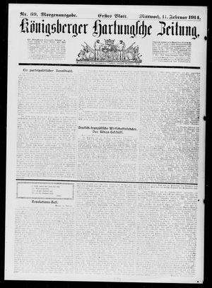 Königsberger Hartungsche Zeitung vom 11.02.1914