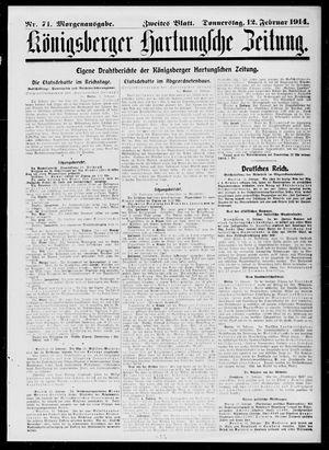 Königsberger Hartungsche Zeitung vom 12.02.1914