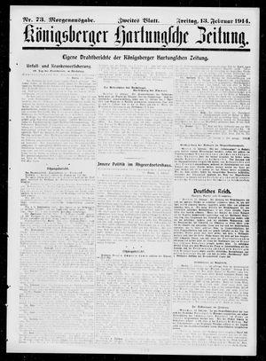 Königsberger Hartungsche Zeitung vom 13.02.1914