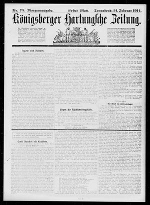 Königsberger Hartungsche Zeitung vom 14.02.1914