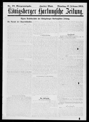 Königsberger Hartungsche Zeitung vom 17.02.1914