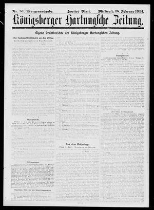 Königsberger Hartungsche Zeitung vom 18.02.1914