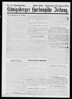 Königsberger Hartungsche Zeitung vom 19.02.1914