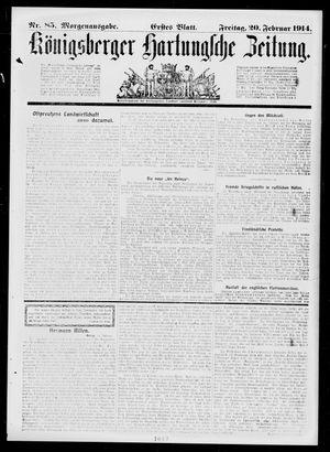 Königsberger Hartungsche Zeitung vom 20.02.1914