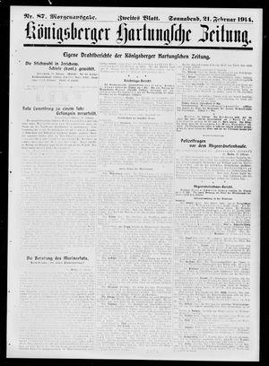 Königsberger Hartungsche Zeitung vom 21.02.1914