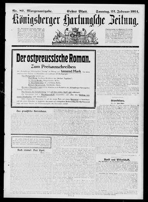 Königsberger Hartungsche Zeitung vom 22.02.1914