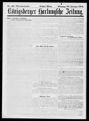 Königsberger Hartungsche Zeitung vom 23.02.1914