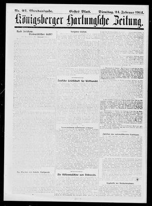 Königsberger Hartungsche Zeitung vom 24.02.1914