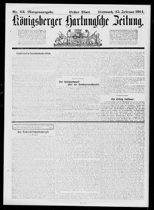 Königsberger Hartungsche Zeitung vom 25.02.1914