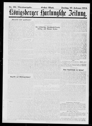 Königsberger Hartungsche Zeitung vom 27.02.1914