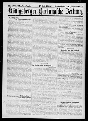 Königsberger Hartungsche Zeitung vom 28.02.1914