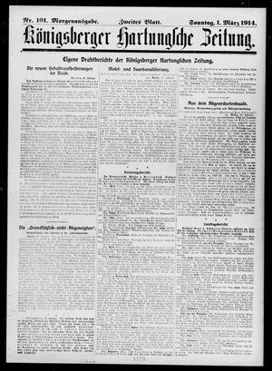 Königsberger Hartungsche Zeitung vom 01.03.1914
