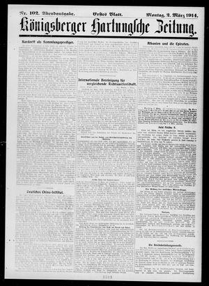 Königsberger Hartungsche Zeitung vom 02.03.1914