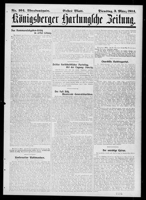Königsberger Hartungsche Zeitung vom 03.03.1914