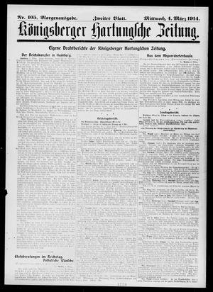 Königsberger Hartungsche Zeitung vom 04.03.1914