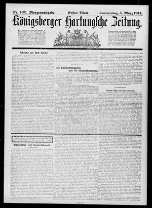 Königsberger Hartungsche Zeitung vom 05.03.1914