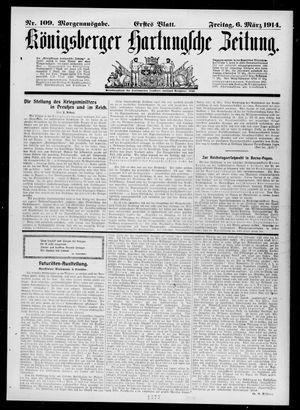 Königsberger Hartungsche Zeitung vom 06.03.1914